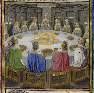 Herald dick magazine la qu te du graal dans les - Les 12 principaux chevaliers de la table ronde ...