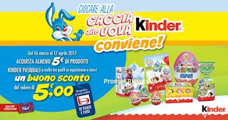 Logo Caccia alla Uova Kinder: Bennet ti regala buoni sconto da 5 euro