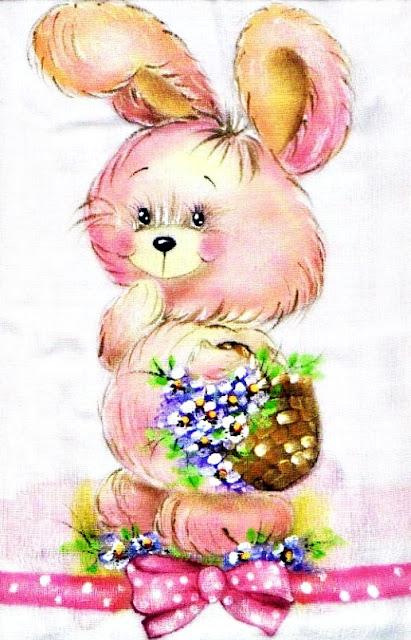 pintura em tecido coelho