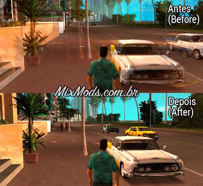 gta vice city mod disable sharp trails blur skygfx ps2 pc