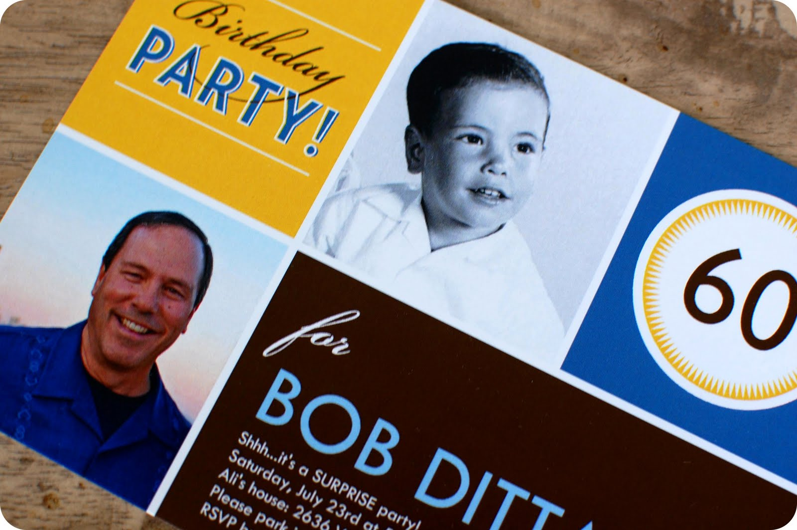 Dads 60th Surprise Party The Invitations