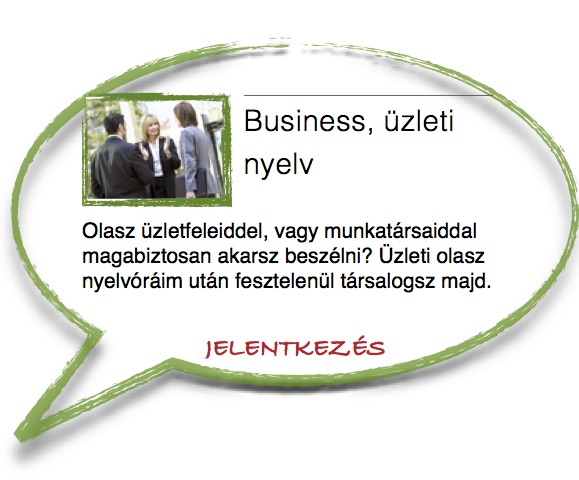 olasz business, üzleti nyelv