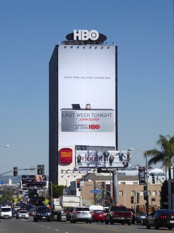 Last Week Tonight John Oliver 4 billboard Sunset Strip