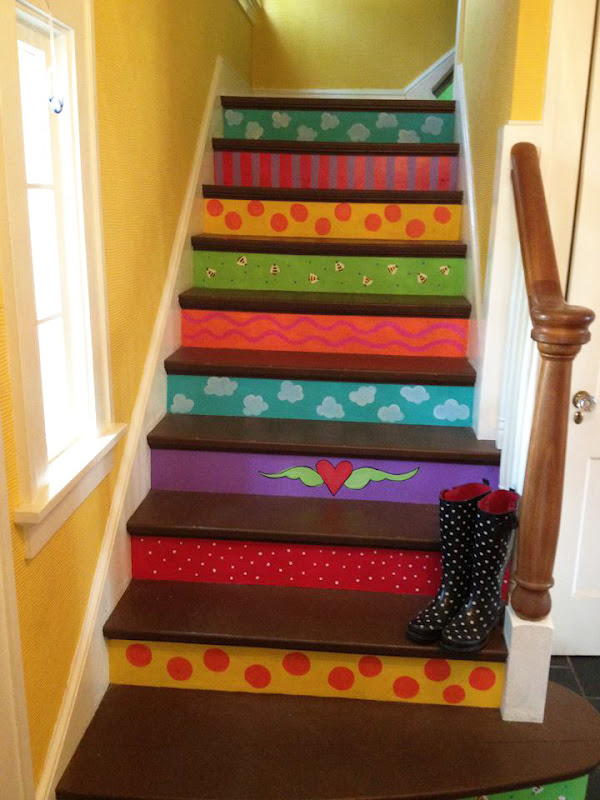 The Dreaming Bear Art Studio: My Painted Stairs