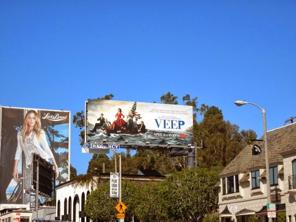 Veep season 3 billboard Sunset Strip