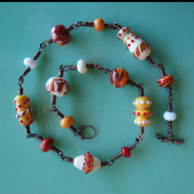 glass bead lampwork necklace wire findings