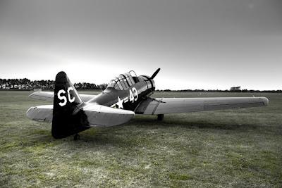 Increíble fotografía HRD de avión