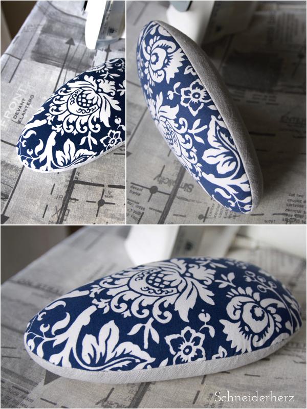 Bügelei Ornamentmuster blau