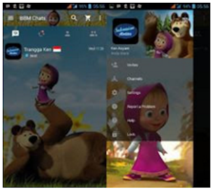 DOWNLOAD BBM MOD MASHA AND THE BEAR V2.12.0.11 APK VERSI CLONE GRATIS TERBARU