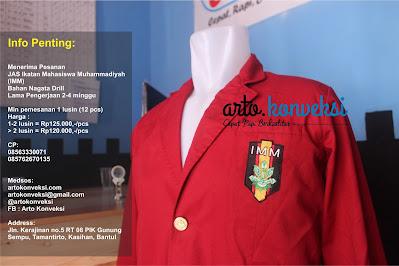 Jual Jas Almamater IMM (Ikatan Mahasiswa Muhammadiyah)