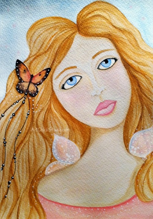 Flutter Fae Mixed Media