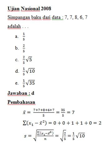 Contoh Soal Statistika Matematika Dan Jawabannya Download Pdf