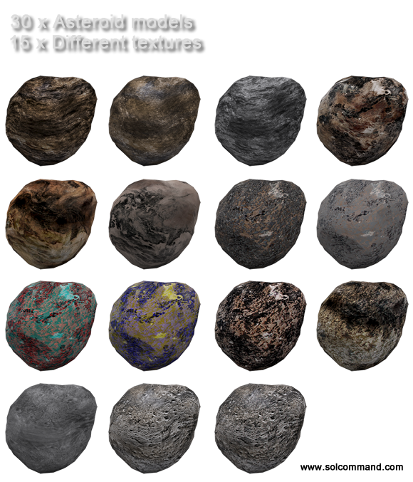 3d model, free, download, low, polt, mesh, asteroid, planet, texture, game, collection, set