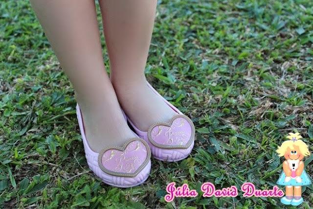 passarela moda infantil sapatilha princesas disney menina rosa princess