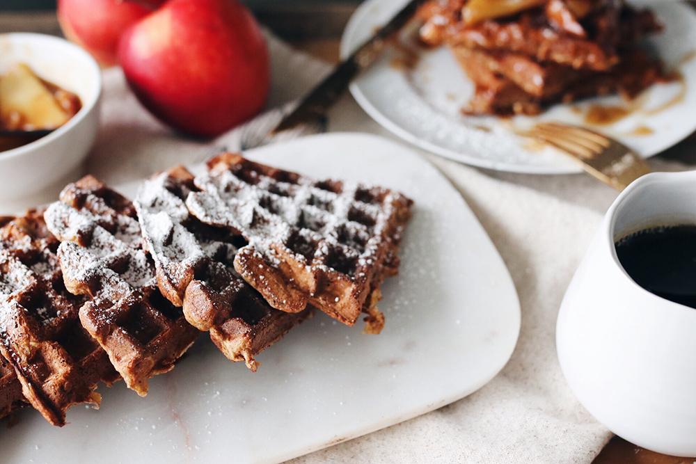 Food File: Apple Cinnamon Protein Waffles