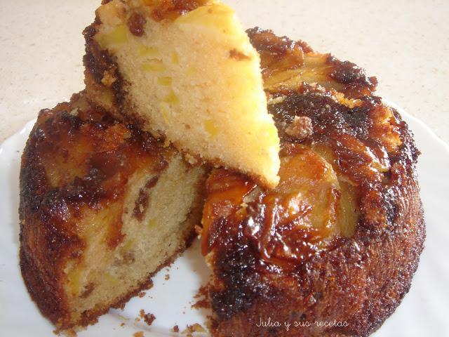 Bizcocho de manzana y caramelo. Julia y sus recetas