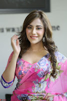 Angela Krislinzki Rogue Movie Fame Telugu Actress in Saree Backless Choli 090.JPG