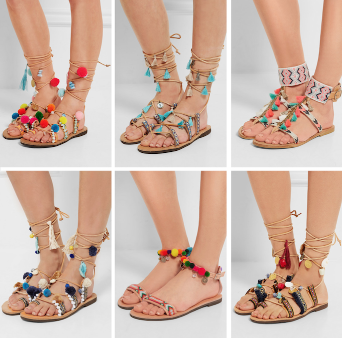 Embellished Lace Up Sandals from Mabu by Maria BK