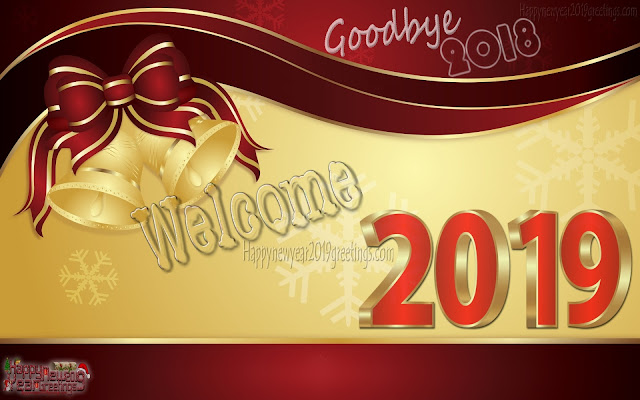 Welcome New Year 2019 Photo Greetings HD