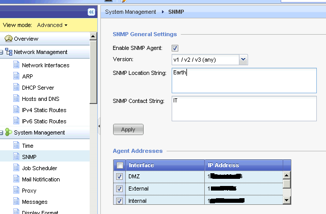 Enabling SNMP v3 Part 2: Checkpoint R75 (Gaia & Splat) (AES