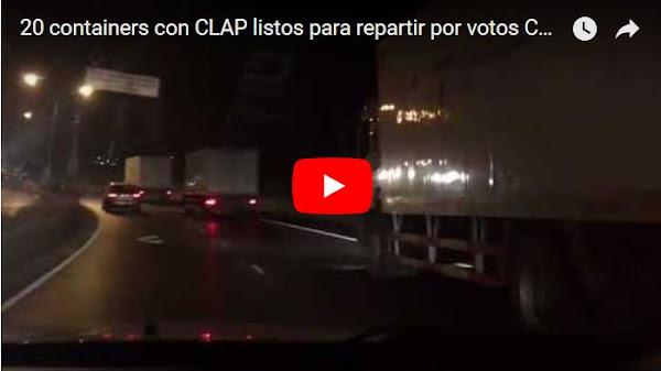 20 containers con CLAP listos para repartir por votos