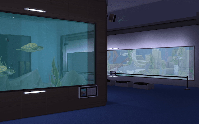 aquarium tortue sims 4