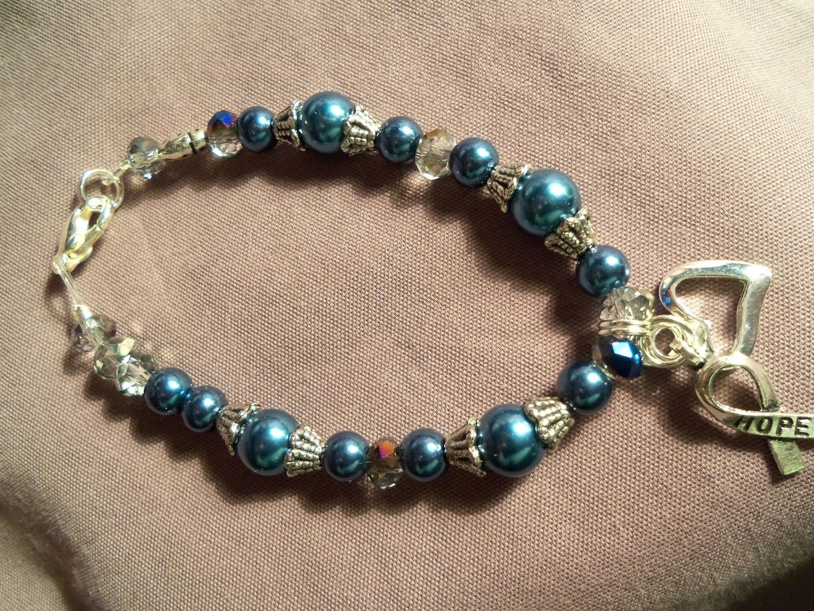 Sue S Lady Bug Jewelry Cancer Awareness Bracelets