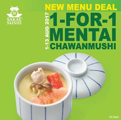 Sakae Sushi Malaysia Mentai Chawanmushi Buy 1 Free 1 Promo