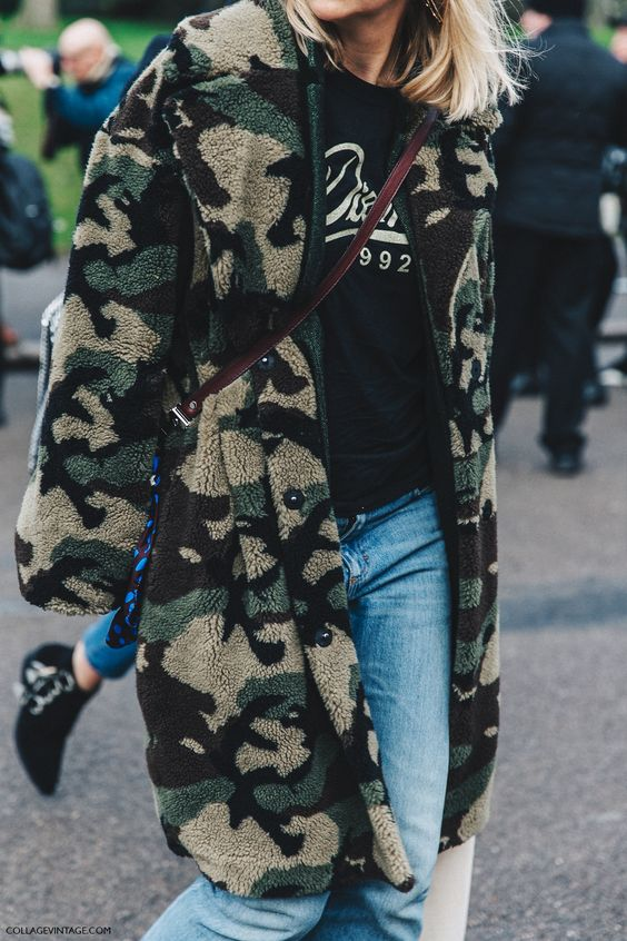 Collage Vintage LFW Street Style - Camo
