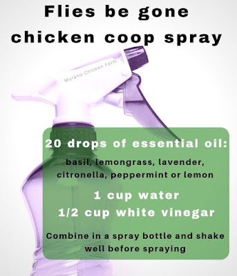 Recipe for chicken coop spray.