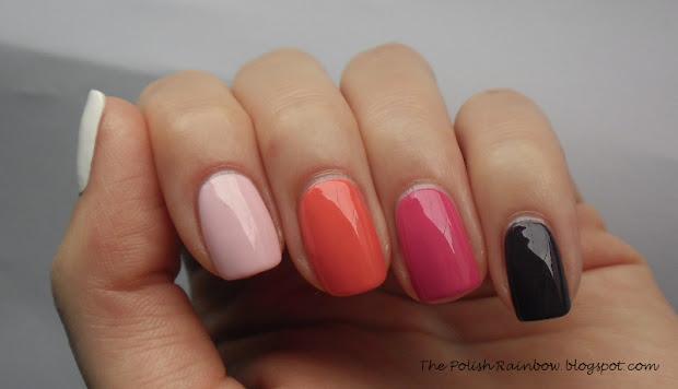 polish rainbow ombre nail