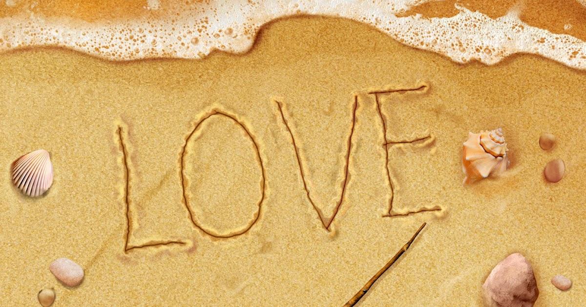 Amor Escrito En Arena: Amor Escrito En La Arena De Playa
