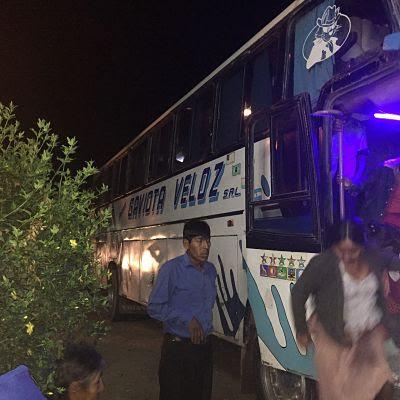 bus la Gaviota Veloz de Samaipata a Sucre. Bolivia
