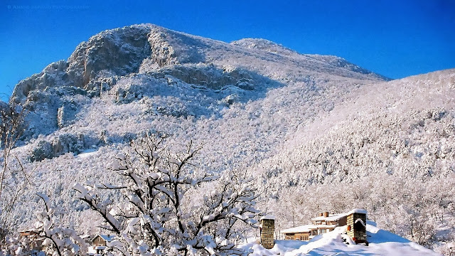 a mountain view and blue sky in Vratsa, Bulgaria
