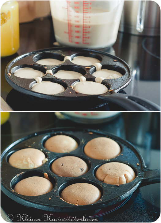 Poffertjes in der Pfanne