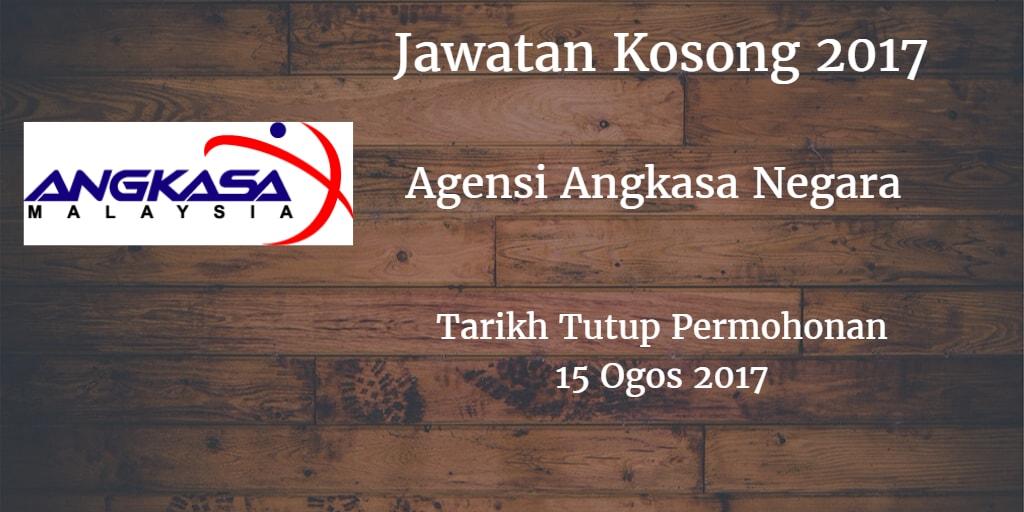 Jawatan Kosong ANGKASA 15 Ogos 2017