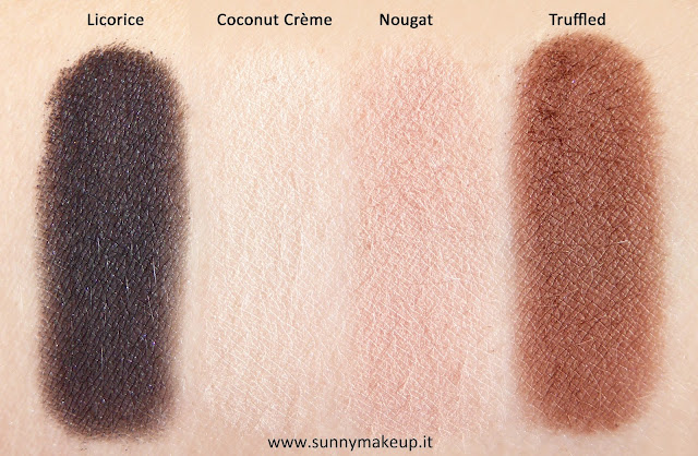Swatch Too Faced - Semi-Sweet Chocolate Bar. Palette di ombretti.