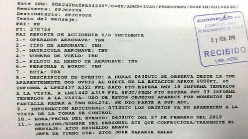 Rapporto ufficiale sugli UFO in Perù