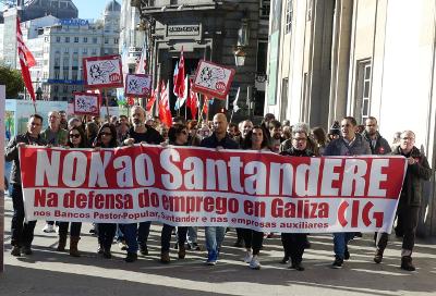 Imaxe dunha das numerosas protestas da CIG contra a destrución de emprego