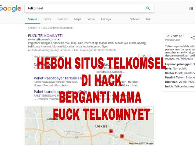 Situs Telkomsel Di Hack Menjadi Fuck Telkomnyet Malukuterkini