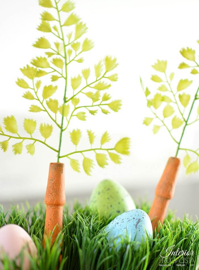 Easter Centerpiece Box Faux Speckled Eggs