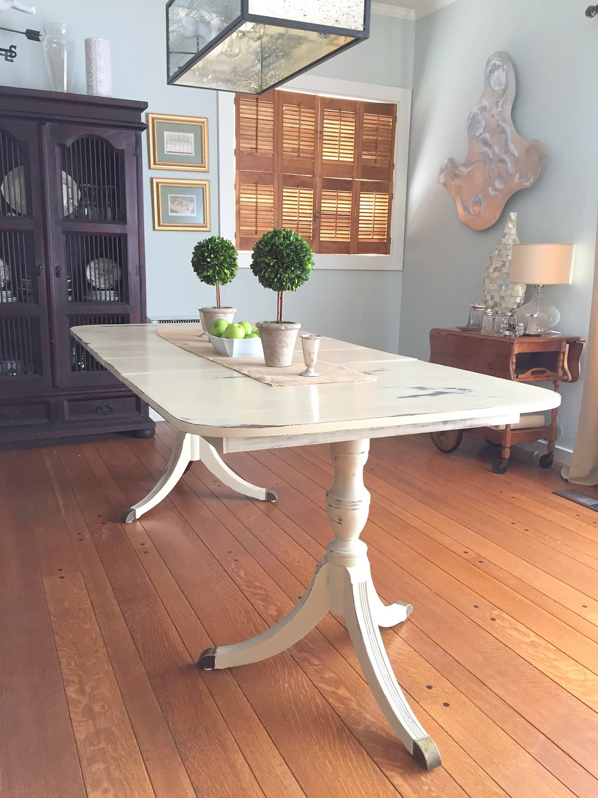 white painted table and chairs sure fit wing chair slipcover painting a duncan phyfe dining room barnaclebutt