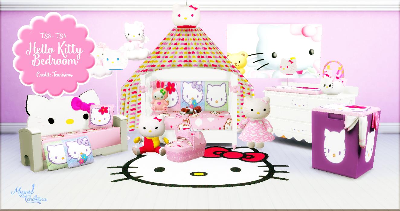 Miguel Creations Ts4 Hello Kitty Bedroom Ts3 Ts4