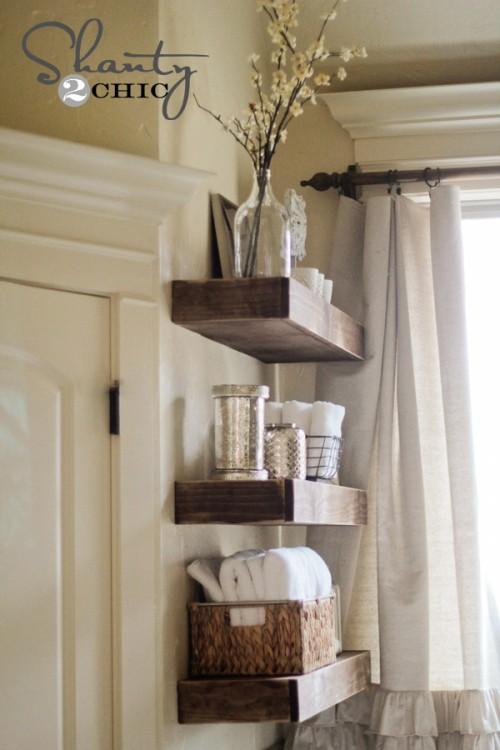 Floating Shelves For The Kids Bathroom Rachel Teodoro