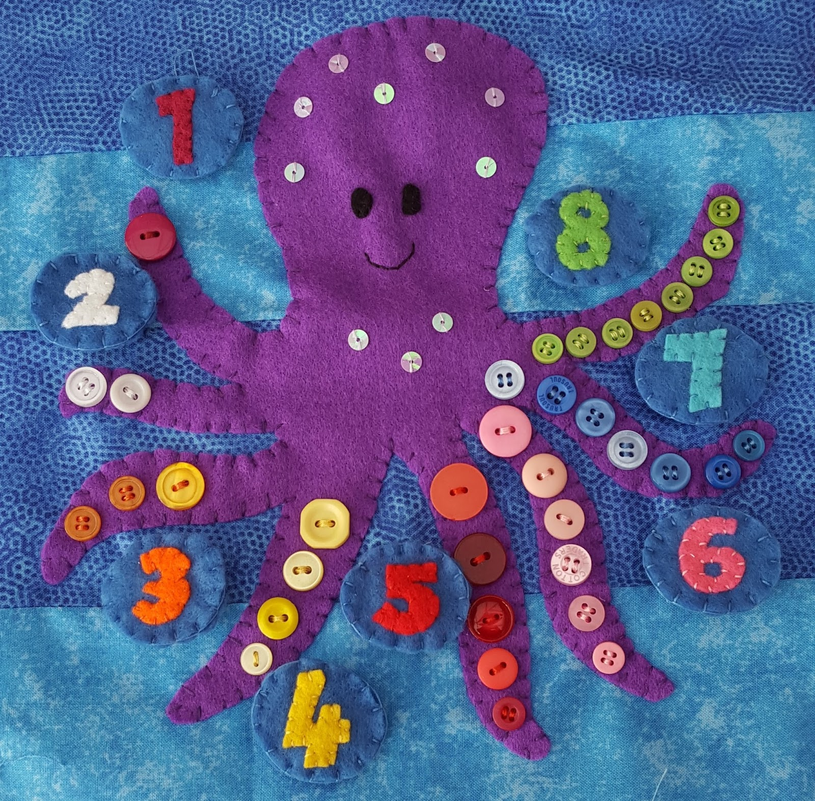 Miss Mouse Makes Octopus Number Quiet Book Page