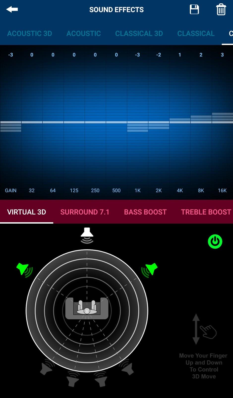 xplayer virtual 3D settings page