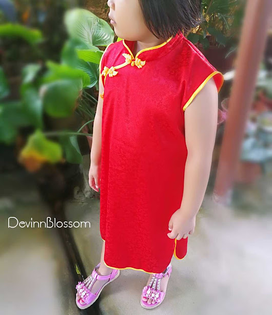 Easy Sewn Cheongsam Qipao Dress For Kids