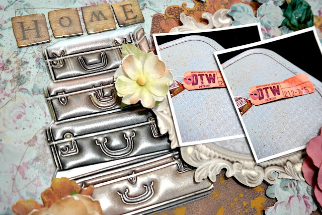 Home by Dana Tatar for Scraps of Darkness - May Attic Finds Kit - Suitcase Closeup