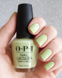 OPI green polish swatch