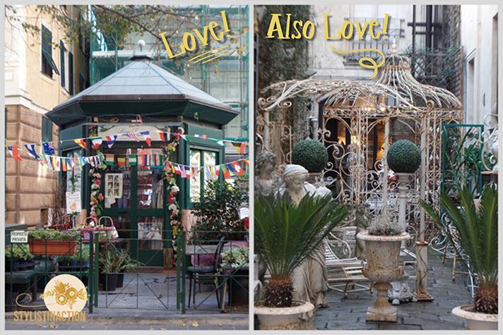 inspiracion callejera - gazebos de diferentes estilos escondidos en las calles de Genova